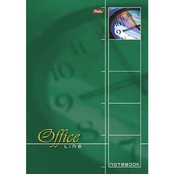 "Блокнот А4 60л Хатбер спир. лак ""Office Line"" зеленый жест.подложка"