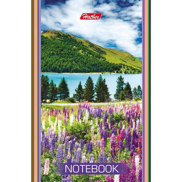 """Блокнот А7 48л Хатбер скл. """"Красивые пейзажи"""" 3цв.блок"""