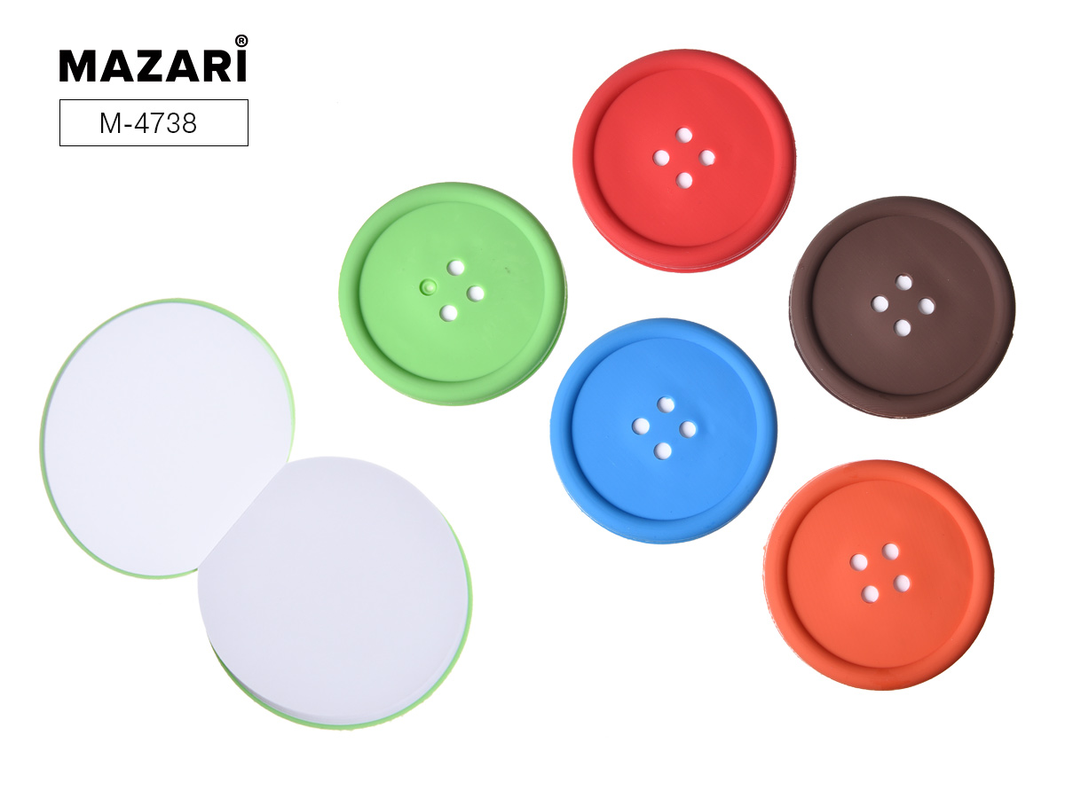 Блокнот 80л Mazari Button 9*9см без лин. ПВХ обл. 5 цветов