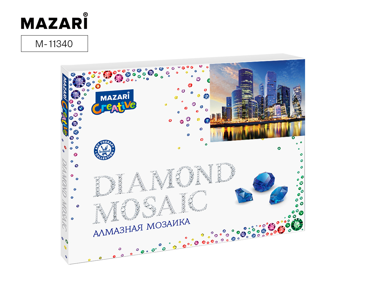 Алмазная мозаика полная выкладка 40*50см Москва-Сити
