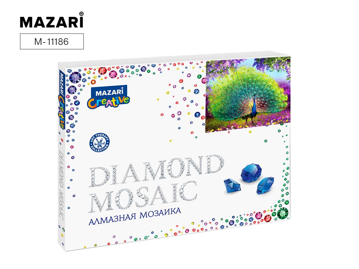 Алмазная мозаика полная выкладка 40*50см Павлин