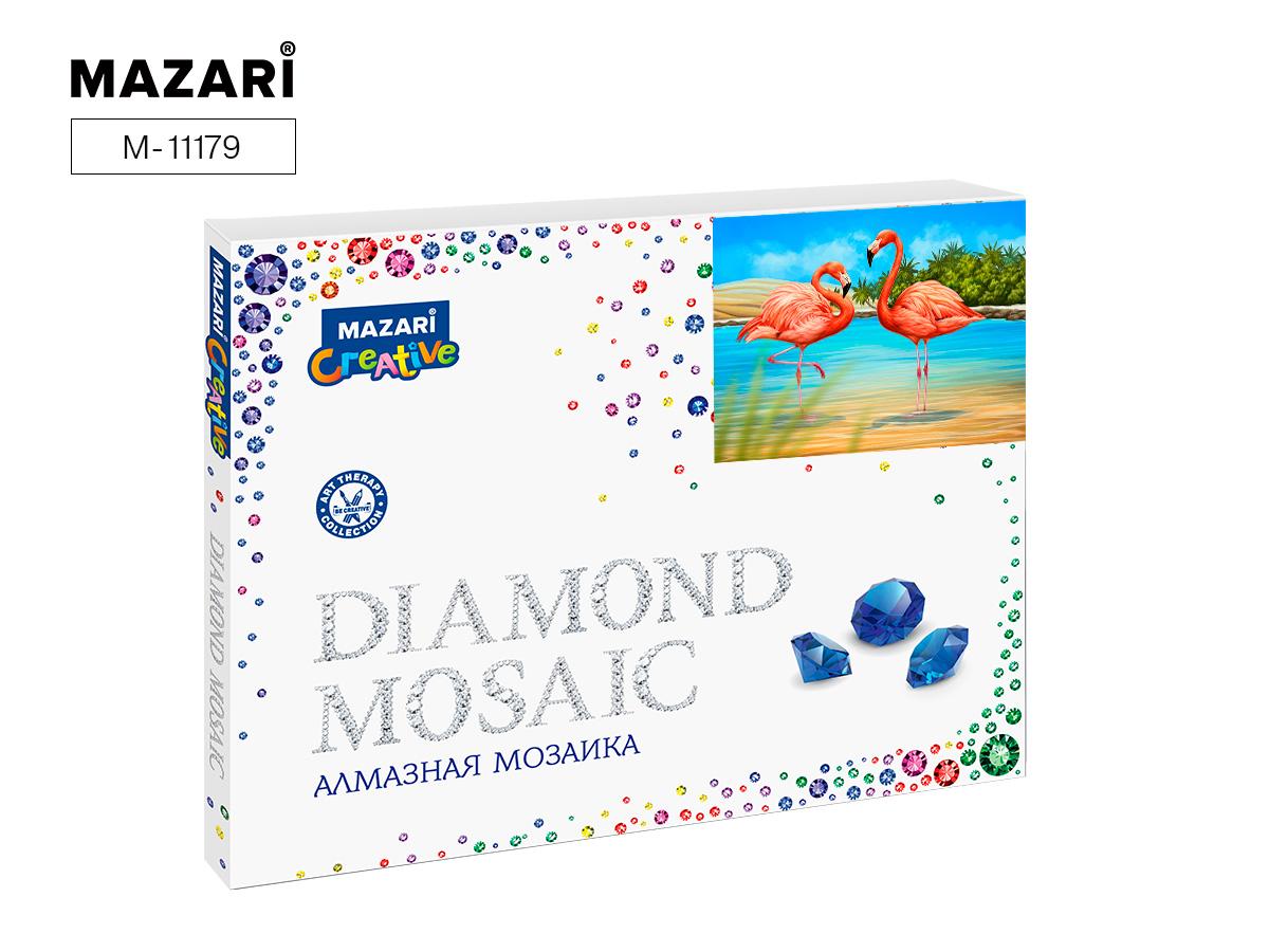 Алмазная мозаика полная выкладка 40*50см Фламинго