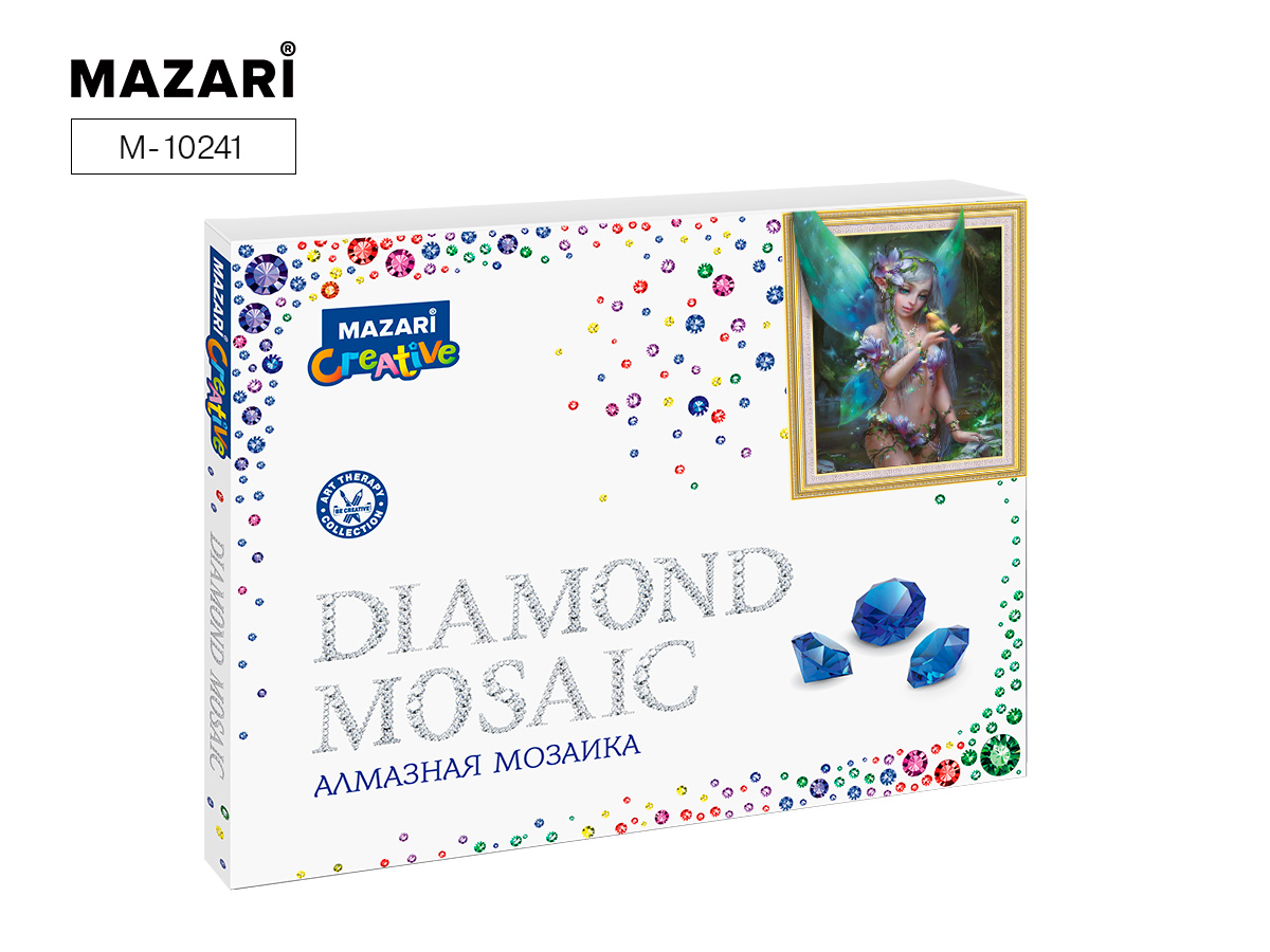 Алмазная мозаика 40*50см Фея частичная выкладка
