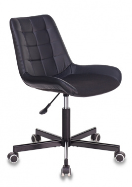 Кресло Бюрократ CH-350M/BLACK б/подлокот. иск.кожа черный