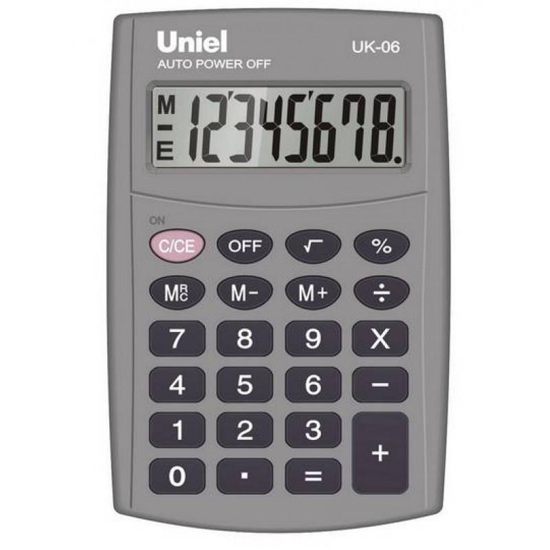 Калькулятор карм. Uniel UK-06  8-разр. 98*65мм черный