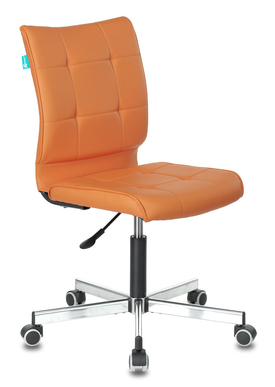 Кресло Бюрократ CH-330M/OR-20 б/подлокот. иск.кожа оранжевый