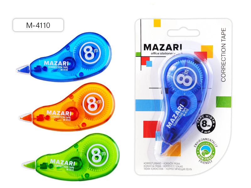 Коррект. лента Mazari Conti maxi 5мм*8м ассорти