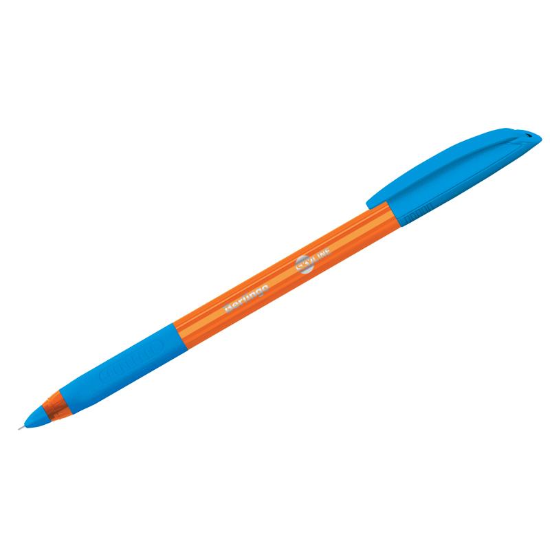Ручка Berlingo Skyline 0.7мм трехгранная грип св.-синяя