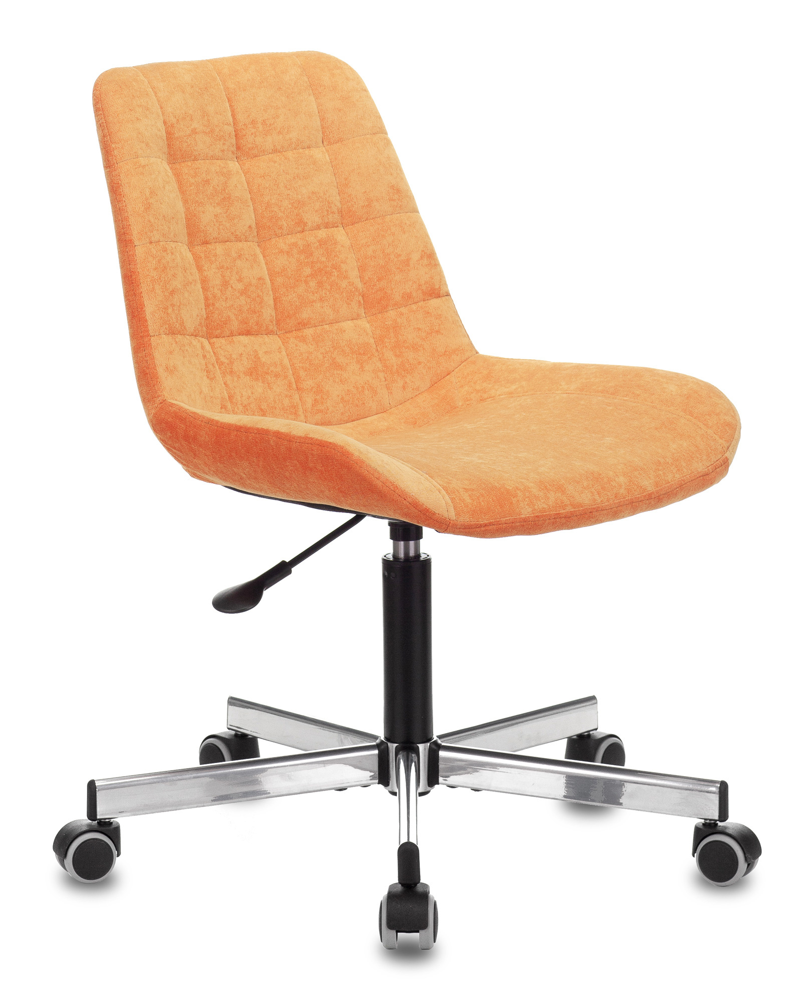 Кресло Бюрократ CH-350M/VELV72 без подлокотников оранжевый Velvet 72 крестовина металл