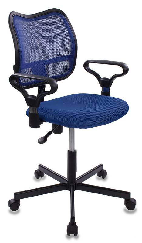 Кресло Бюрократ CH-799M/BL/TW-10 спинка сетка синий сиденье синий TW-10 крестовина металл