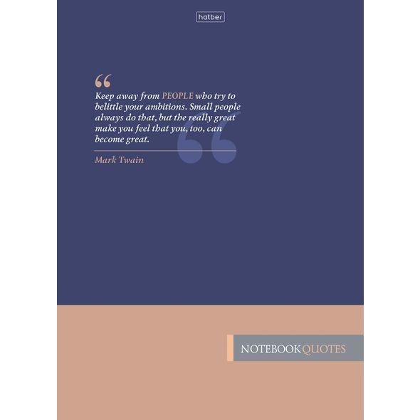 """Бизнес-блокнот А4 160л Хатбер """"Леттеринг"""" тв.обл. 5-цв. блок"""