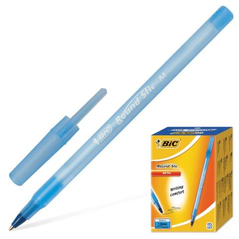 Ручка BIC Round Stic 1,0 синяя корпус голубой