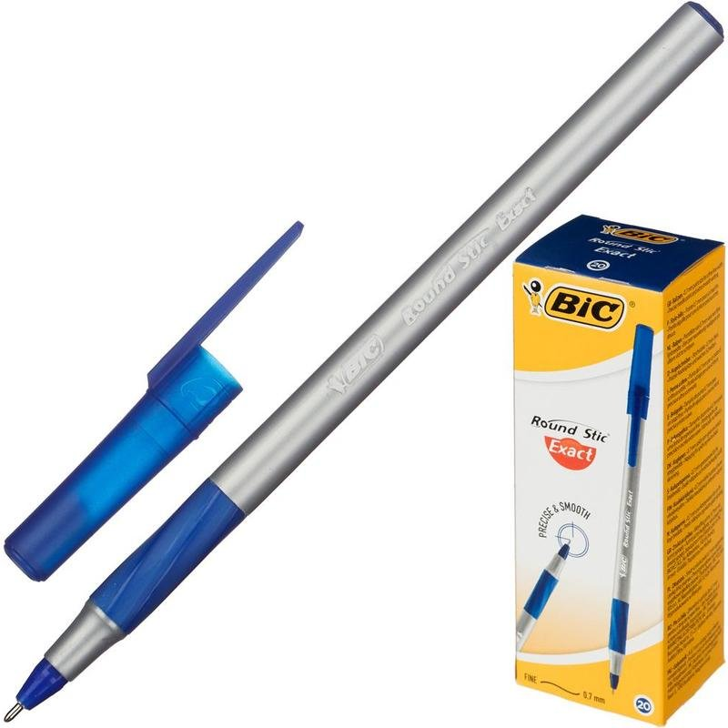 Ручка BIC Round Stic Exact 0,7 синяя