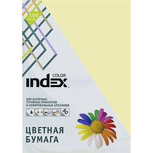 """Бумага """"Index Color"""" А4 80г/м2 100л жёлтая"""