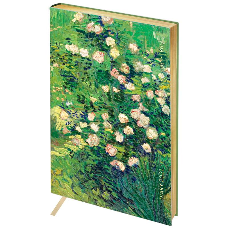 """Ежедневник дат. А5 Greenwich Line к/зам """"Vision Van Gogh Roses"""" зол. срез"""