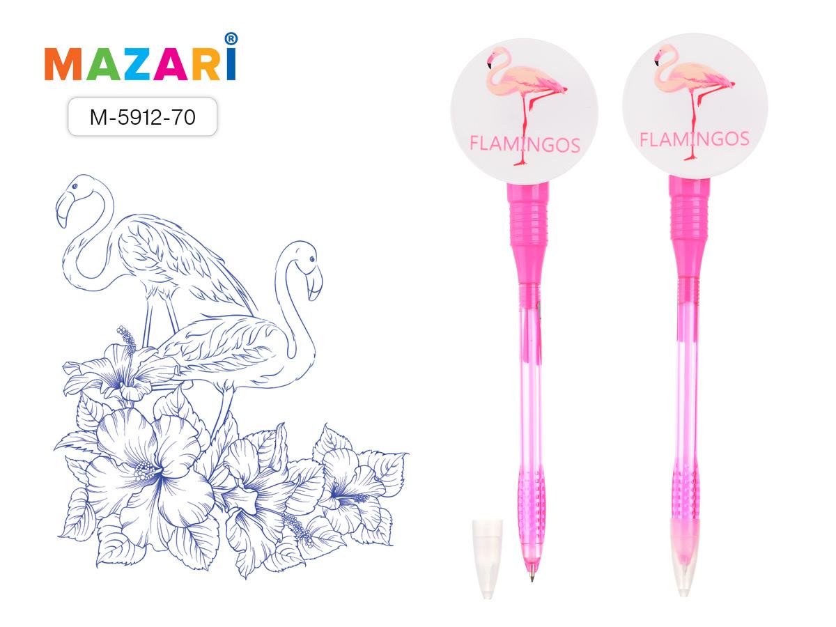 Ручка Mazari Flamingos 0,7мм синяя