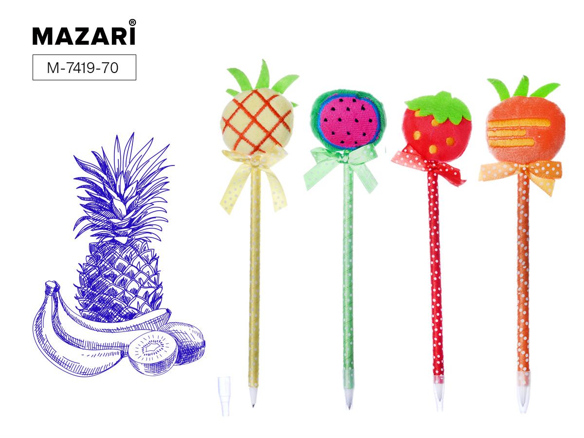Ручка Mazari Fruit 0,7мм цв. корпус синяя