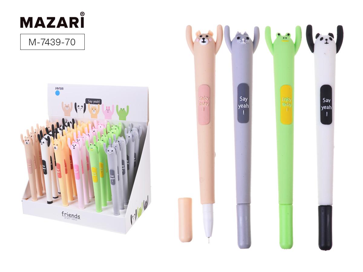 Ручка Mazari Happy 0,7мм синяя