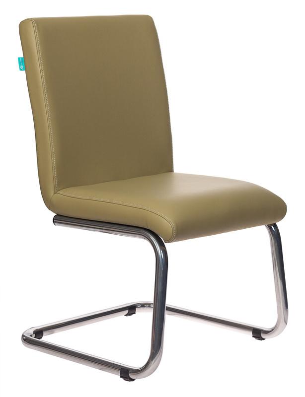 Кресло Бюрократ CH-250-V на полозьях к/зам. зеленый