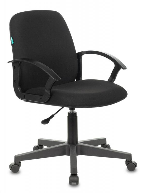 Кресло Бюрократ CH-808-LOW низкая спинка черный 3С11