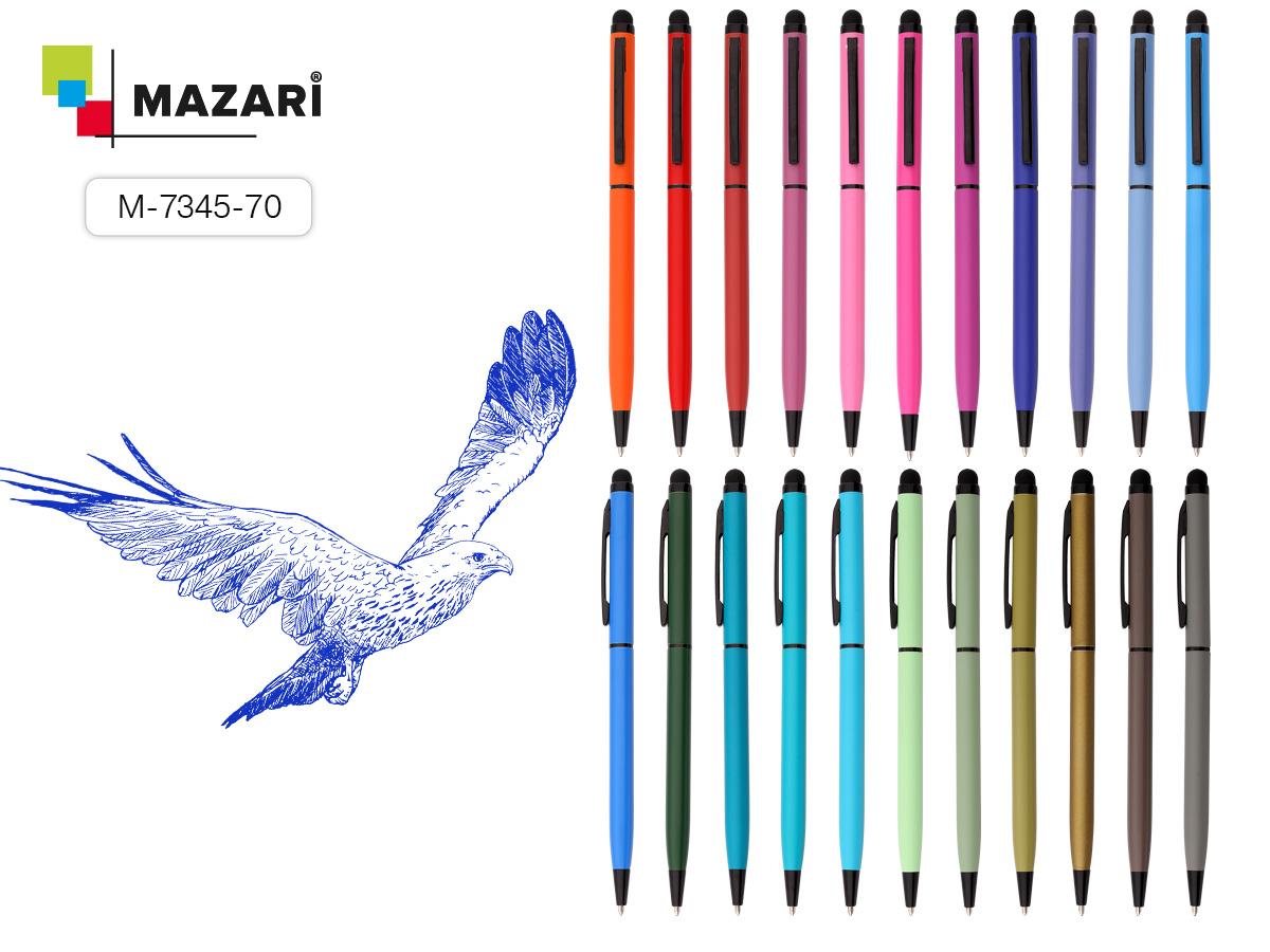 Ручка Mazari RAY Soft touch 1.0мм с пов. мех., син. стилуc