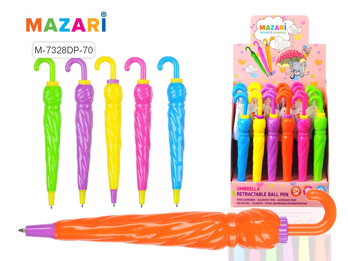 Ручка Mazari авт. Umbrella 0,7мм синяя