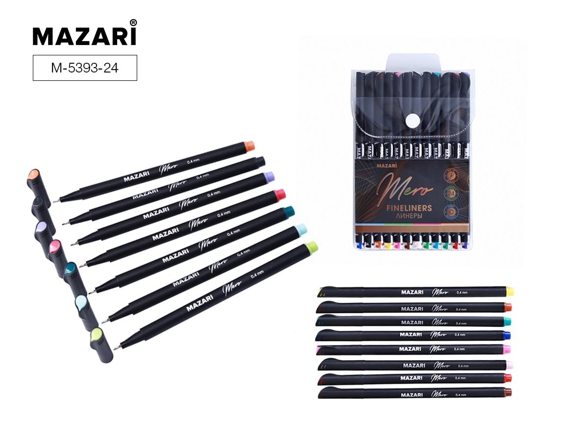 Линеры набор Mazari Mero  24цв. 0,4мм в пластиковой упак.