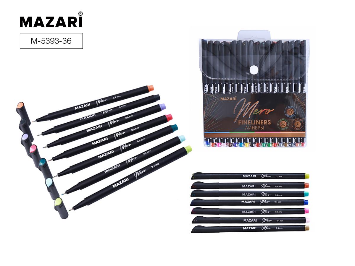 Линеры набор Mazari Mero  36цв. 0,4мм в пластиковой упак.