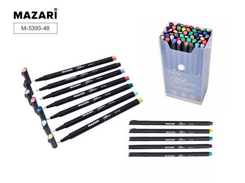 Линеры набор Mazari Mero  48цв. 0,4мм в пластиковом контейн