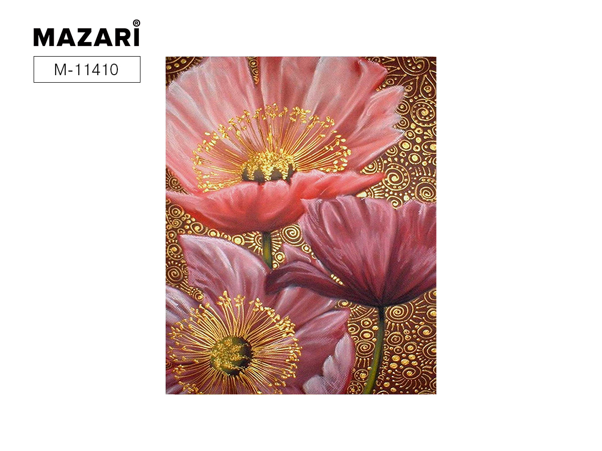 "Картина по номерам (дерево) 40*50 ""Розовые цветы"" с акр. красками"