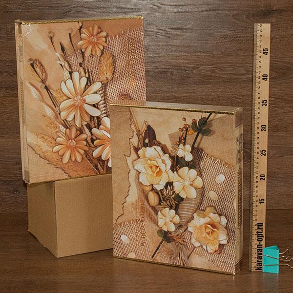 фотоальбом магнитный 20листов  22,5*31,5см. цветы 2вида