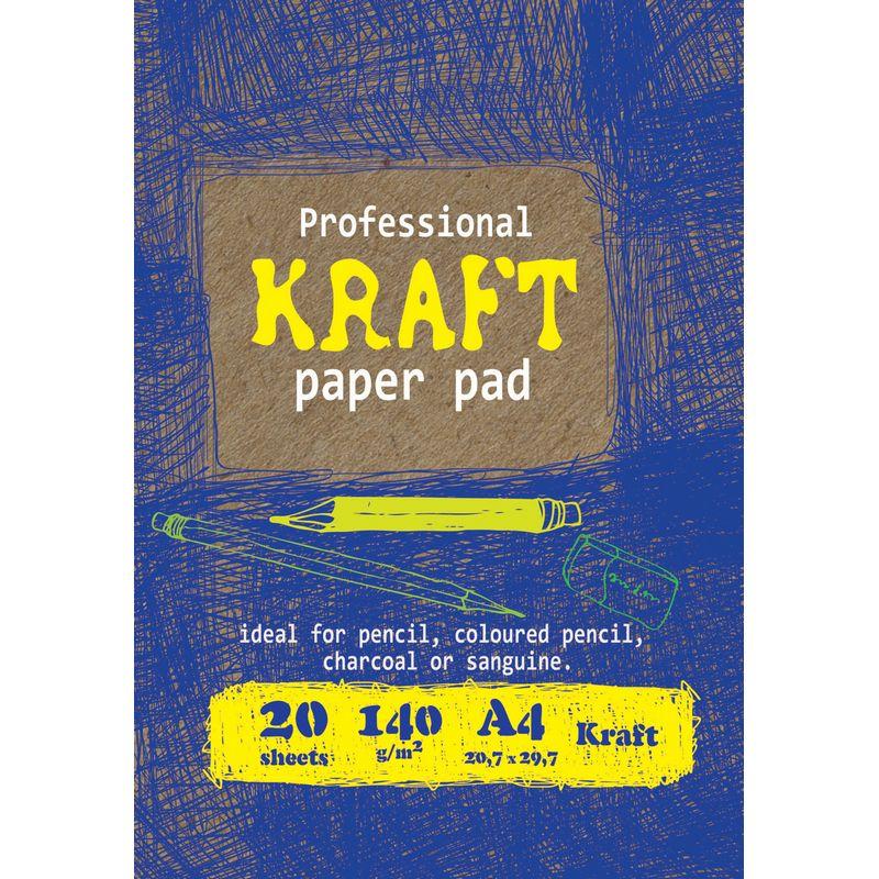 Папка д/рисования и эскизов А4 Kroyter 20л крафт 140г/м2