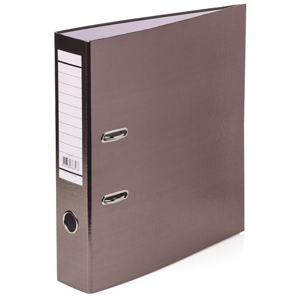 Папка регистр. Хатбер 70мм бумвинил METALLIC коричневая