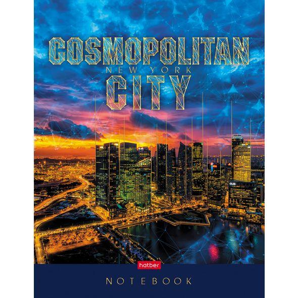 Бизнес-блокнот А5 80л Хатбер 3D фольга тв.обл. Cosmopolitan city 5цв.блок