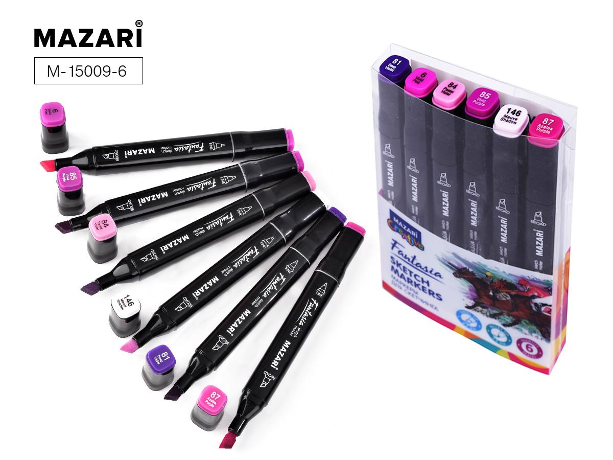 Маркеры д/скетчинга Fantasia  6цв. 3-6,2мм пурпурные цвета