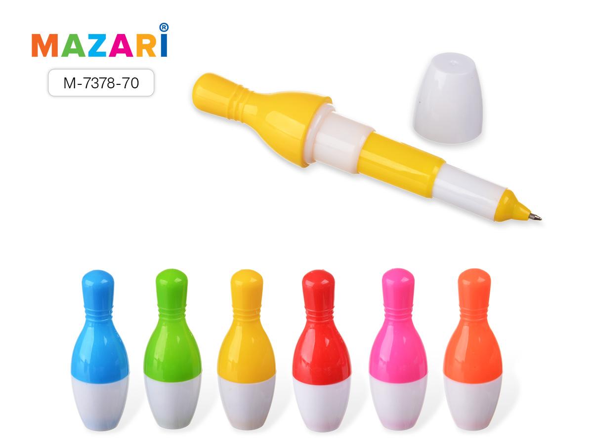 Ручка-трансформер Mazari Skittles 0,7 син.фигур.корп.асс.6цв