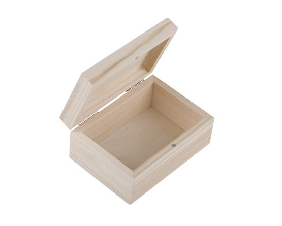 Шкатулка деревянная Сонет 110*80*50мм сосна