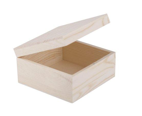 Шкатулка деревянная Сонет 150*150*80мм сосна