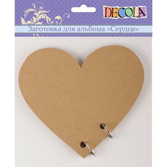 Заготовка для альбома Decola <Сердце> 15х15см 6л