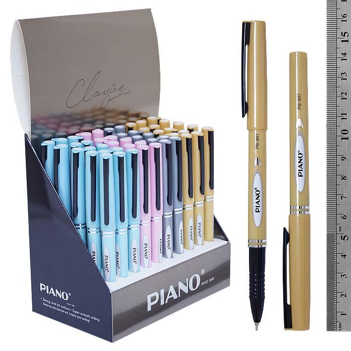 Ручка Piano масл. Перламутр 0,5 рифл.держ. корпус ассорти синяя
