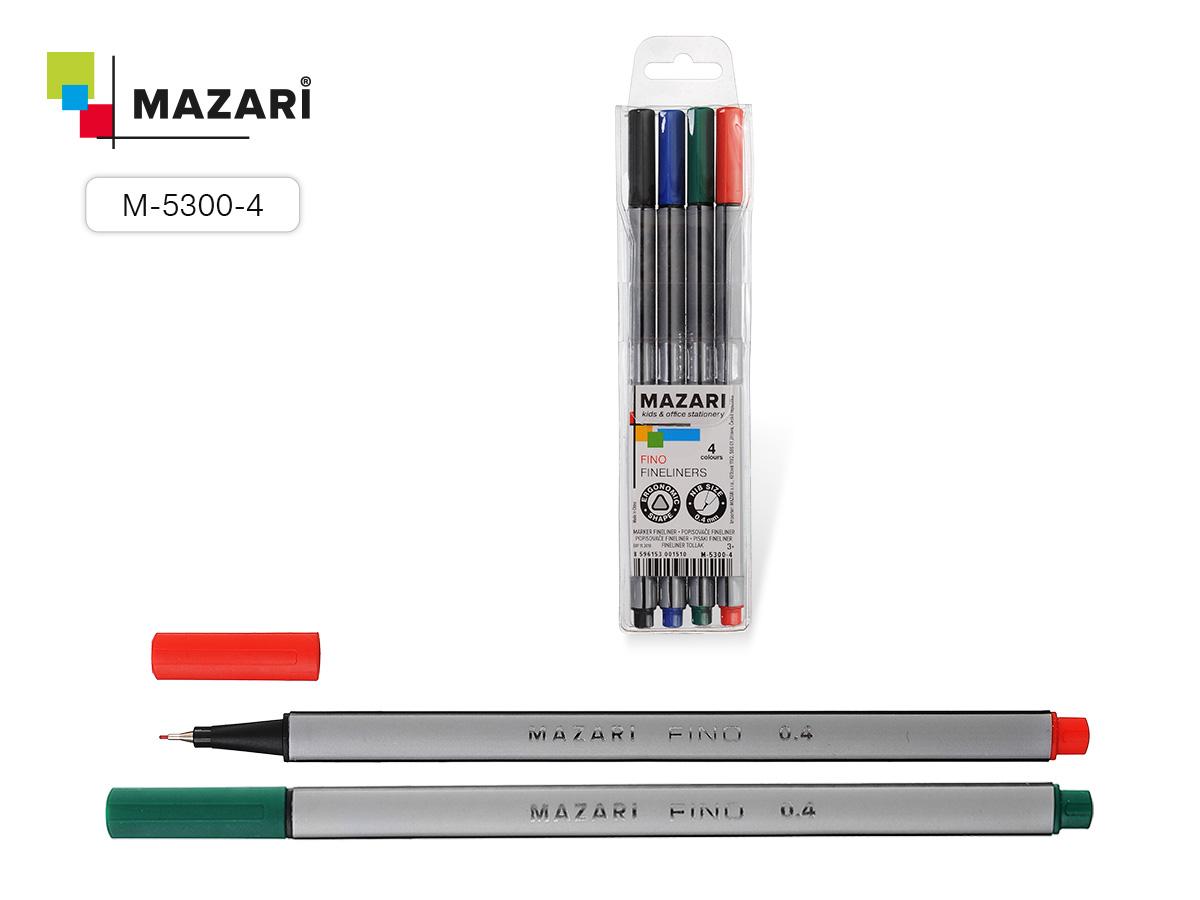 Линеры Mazari FINO  4цв. 0.4мм трехгранный корп.