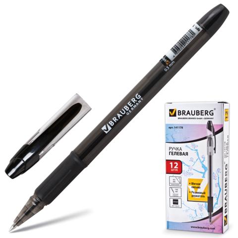 Ручка гел. Brauberg Samurai 0,5 рез.держ. черная