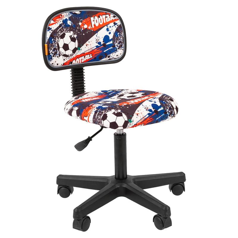 Кресло детское Chairman Kids 101 PL черный, велюр Футбол б/подлок.