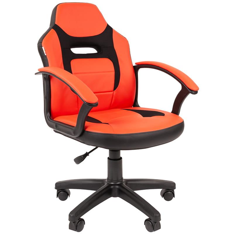 Кресло детское Chairman Kids 110 PL черный, экокожа красная/ткань TW черная