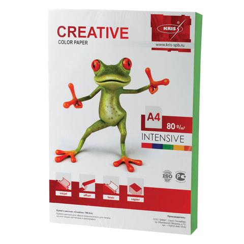 Бумага CREATIVE color А4 80 г/м2 100л интенсив зеленая