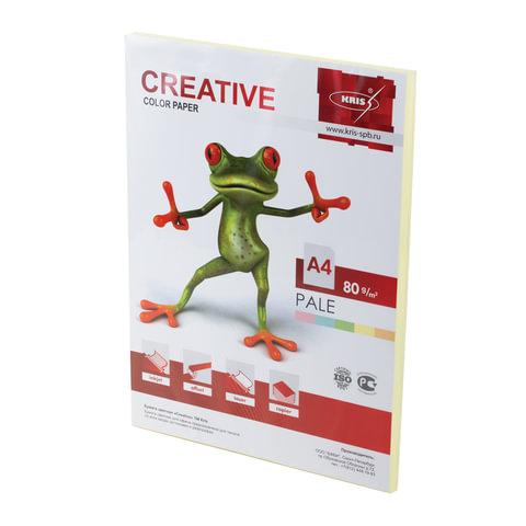 Бумага CREATIVE color А4 80 г/м2 100л пастель желтая