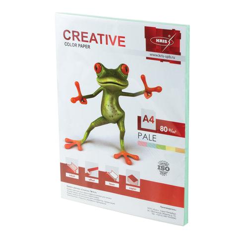 Бумага CREATIVE color А4 80 г/м2 100л пастель зеленая