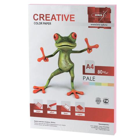 Бумага CREATIVE color А4 80 г/м2 100л пастель розовая