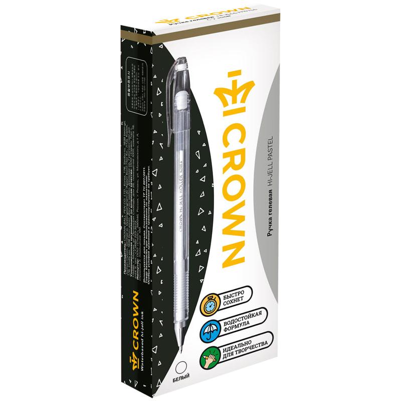Ручка гел. CROWN пастель 0,8 белая
