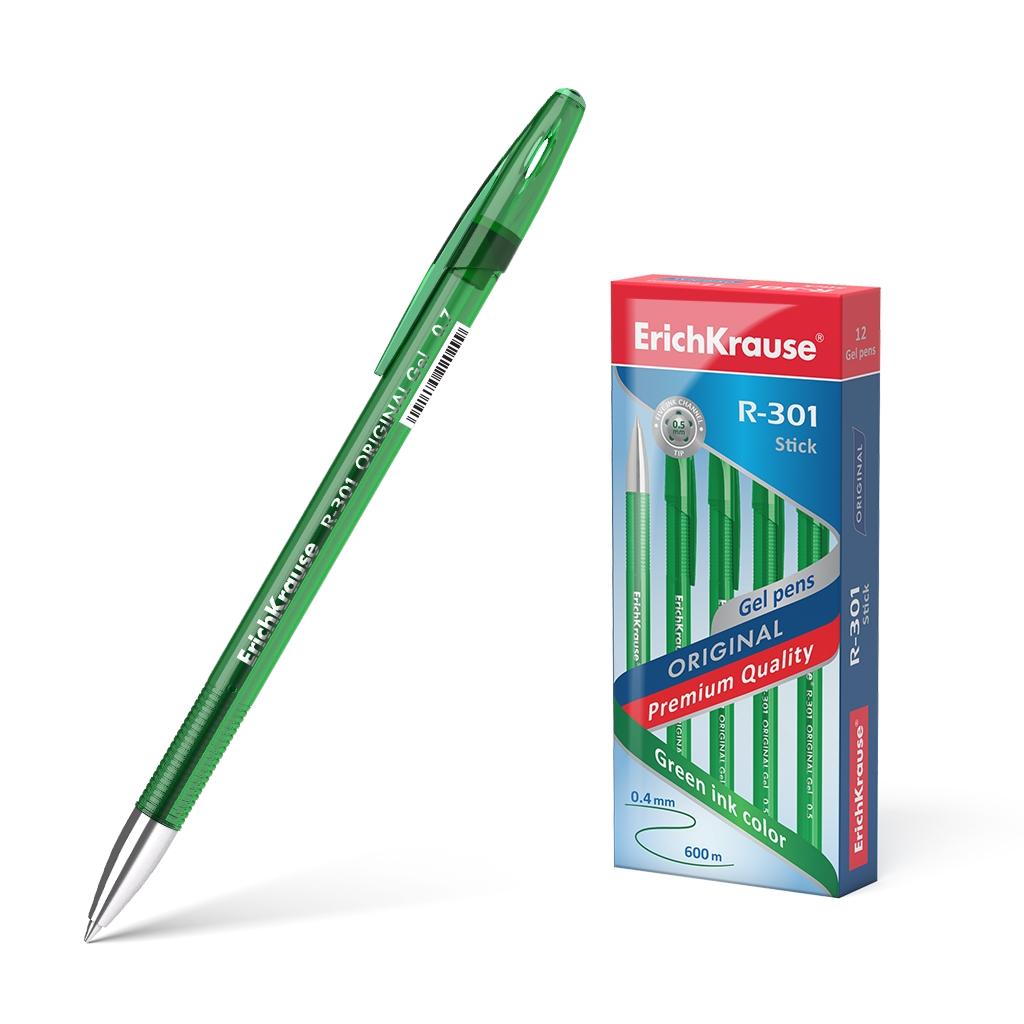 Ручка гел. ErichKrause R-301 Original Gel 0,5 зеленая